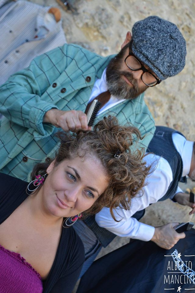 street barber Massimiliano baldini